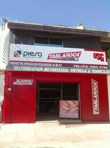 Fachada Sucursal PIESA Tablaroca Sta Margarita Guadalajara Poniente
